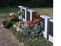 Grabauswahl Massenheim, Grabstätte Beetbepflanzung, Friedhofsgärtner Preis